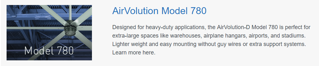 HVLS Fans AirVolution Model 780